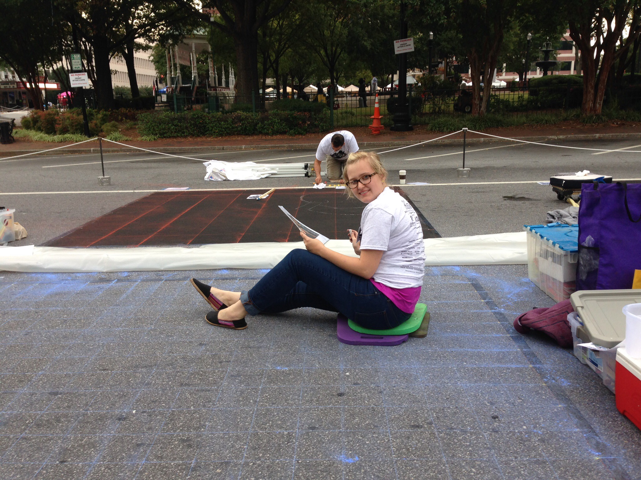 Chalk Art Start Marietta 2014