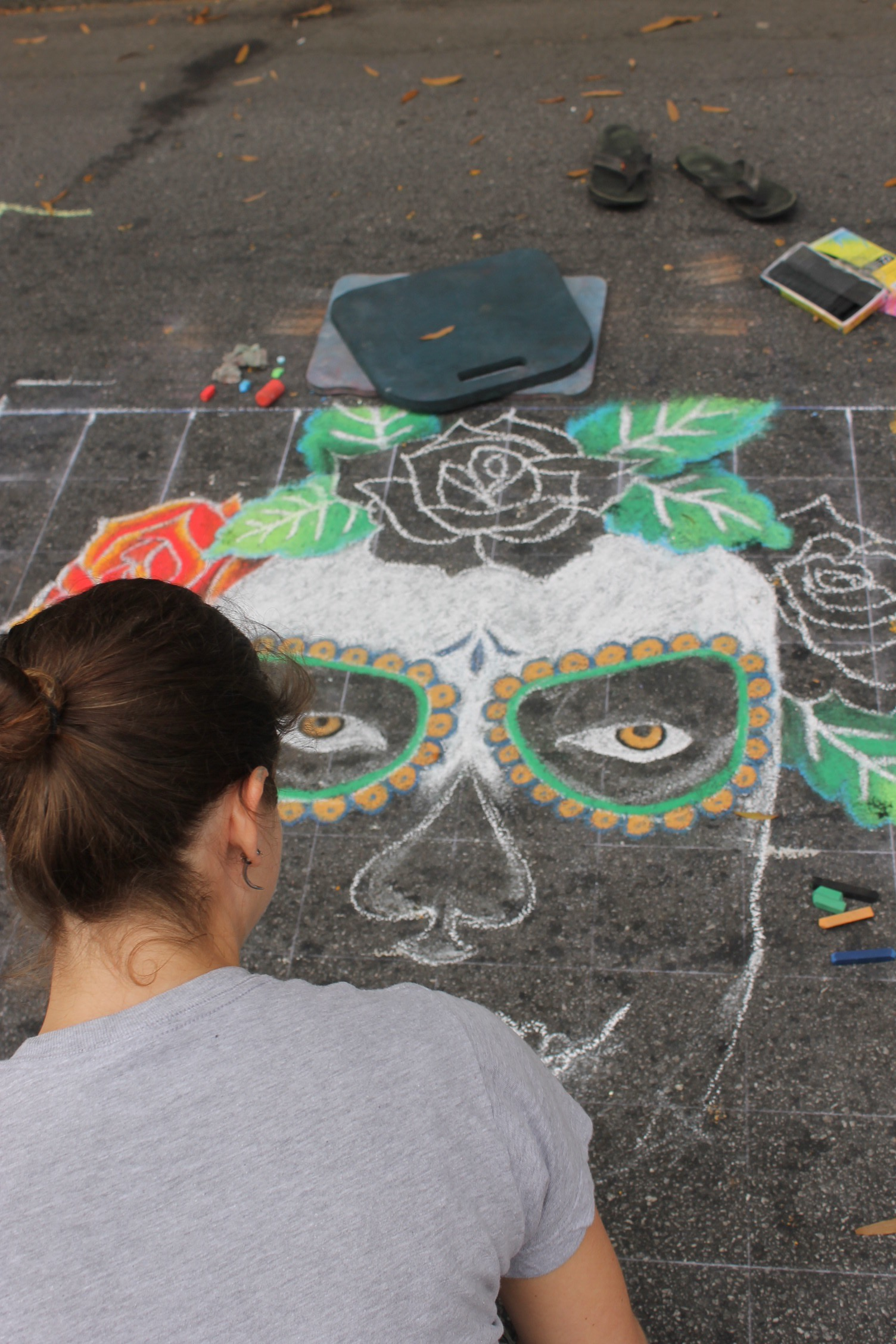 Kristen Rogers in Progress Pop Up Chalk Festival