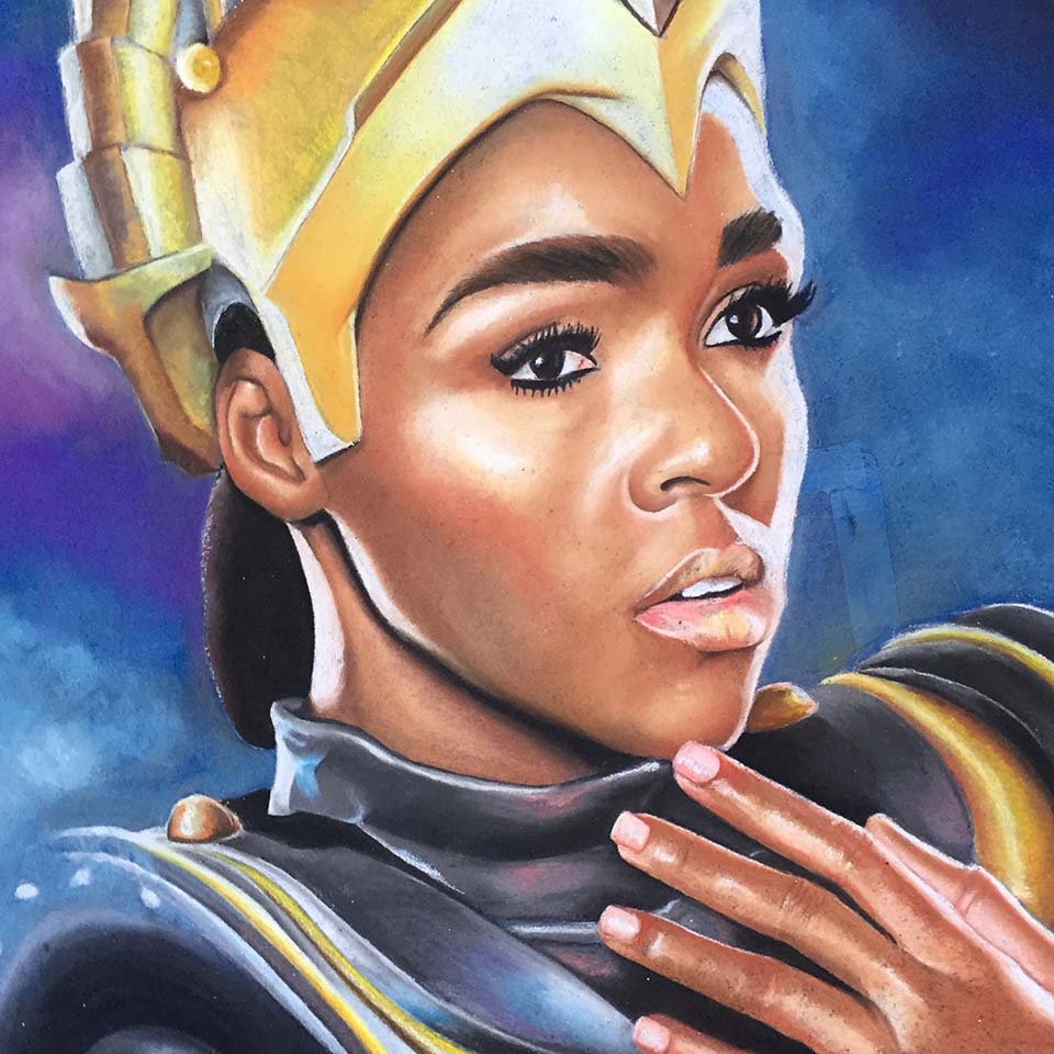 Janelle Monáe by Jessi Queen