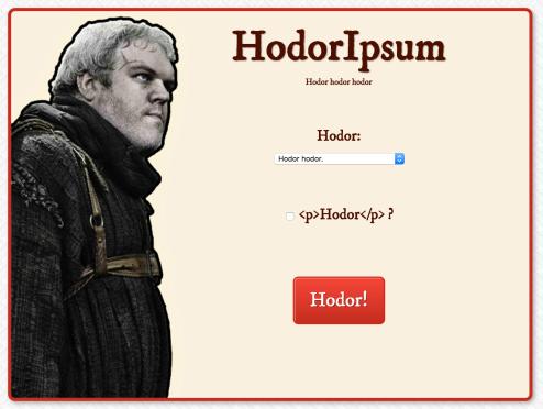 Hodor Ipsum