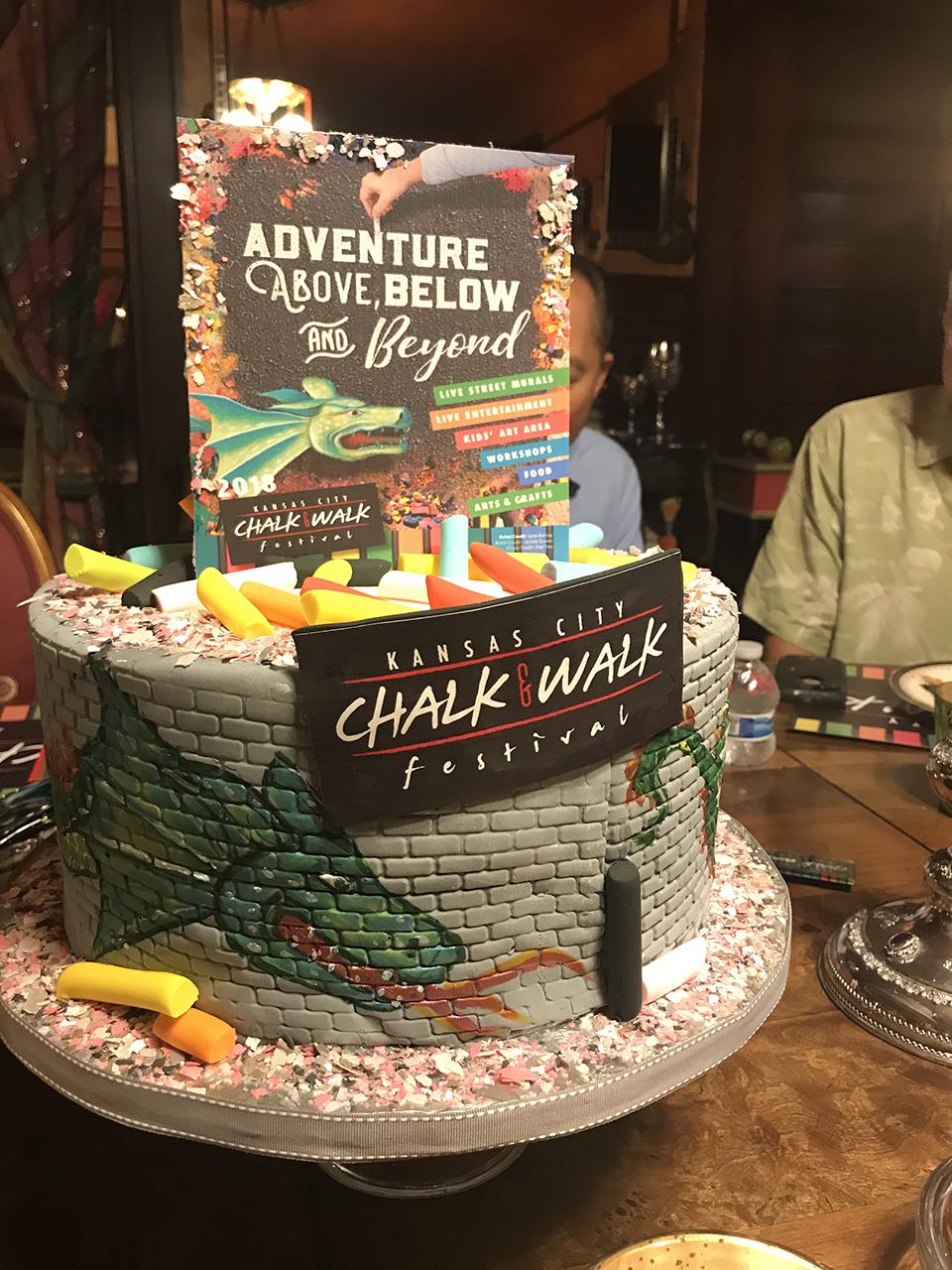 Chalk art cake.